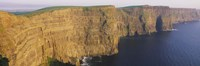 High Angle View Of Cliffs, Cliffs Of Mother, County Clare, Republic Of Ireland Fine Art Print