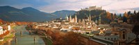 Cityscape Salzburg Austria Framed Print