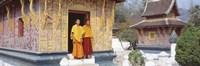 Monks Wat Xien Thong Luang Prabang Laos Fine Art Print