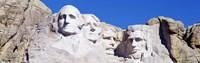 Mount Rushmore, South Dakota (white) Fine Art Print