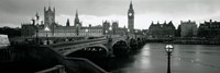 Bridge across a river, Westminster Bridge, Houses Of Parliament, Big Ben, London, England Fine Art Print