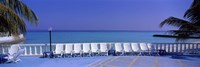 Lounge Chairs, Giraavaru, Maldives Fine Art Print