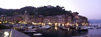Boats at a harbor, Portofino, Genoa, Liguria, Italy Fine Art Print