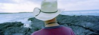 Man with Straw Hat Galapagos Islands Ecuador Fine Art Print