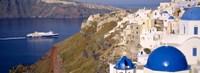 Buildings in a valley, Santorini, Cyclades Islands, Greece Fine Art Print