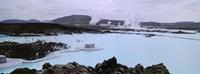 People In The Hot Spring, Blue Lagoon, Reykjavik, Iceland Fine Art Print