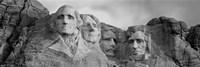 Mount Rushmore (Black And White) Framed Print