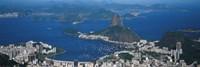 Aerial View Of A City, Rio De Janeiro, Brazil Framed Print