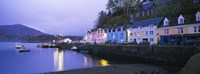 Buildings On The Waterfront, Portree, Isle Of Skye, Scotland, United Kingdom Fine Art Print
