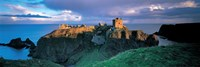 High angle view of a castle, Stonehaven, Grampian, Aberdeen, Scotland Fine Art Print