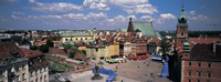 High angle view of a market square, Warsaw, Silesia, Poland Fine Art Print