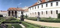 Tourists in a garden, Valdstejnska Garden, Mala Strana, Prague, Czech Republic Fine Art Print