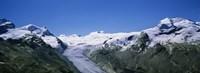 Snow Covered Mountain Range Matterhorn, Switzerland Fine Art Print