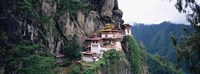 Monastery On A Cliff, Taktshang Monastery, Paro, Bhutan Fine Art Print
