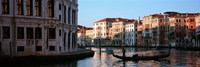 Gondola in a canal, Grand Canal, Venice, Italy Fine Art Print