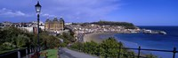 High Angle View Of A City, Scarborough, North Yorkshire, England, United Kingdom Fine Art Print