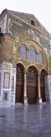 Mosaic facade of a mosque, Umayyad Mosque, Damascus, Syria Fine Art Print