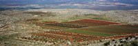 Panoramic view of a landscape, Aleppo, Syria Fine Art Print