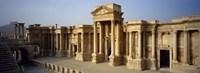Facade of a building, Palmyra, Syria Fine Art Print