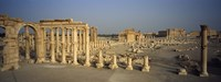Old ruins of a temple, Temple Of Bel, Palmyra, Syria Fine Art Print