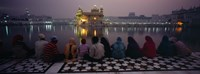 Group of people at a temple, Golden Temple, Amritsar, Punjab, India Fine Art Print