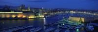 Old Port at dusk, Marseille, Bouches-Du-Rhone, Provence-Alpes-Cote Daze, France Fine Art Print