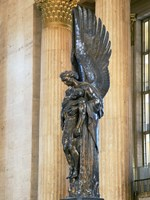 Close-up of a war memorial statue at a railroad station, 30th Street Station, Philadelphia, Pennsylvania, USA Fine Art Print