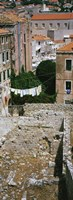 High angle view of the old ruins in a town, Dubrovnik, Croatia Fine Art Print