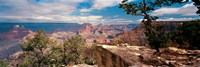 Rock formations in a national park, Mather Point, Grand Canyon National Park, Arizona, USA Fine Art Print