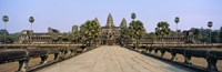 Path leading towards an old temple, Angkor Wat, Siem Reap, Cambodia Fine Art Print