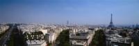 High angle view of a cityscape, Paris, France Fine Art Print