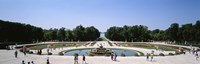 Tourists around a fountain, Versailles, France Fine Art Print