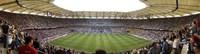 Crowd in a stadium to watch a soccer match, Hamburg, Germany Fine Art Print