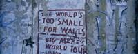 Graffiti on a wall, Berlin Wall, Berlin, Germany Fine Art Print