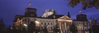 Facade of a building at dusk, The Reichstag, Berlin, Germany Fine Art Print