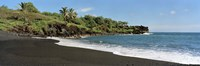 Surf on the beach, Black Sand Beach, Maui, Hawaii, USA Fine Art Print