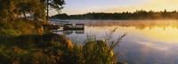 Reflection of sunlight in water, Vuoksi River, Imatra, Finland Fine Art Print