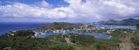 Aerial view of a harbor, English Harbour, Falmouth Bay, Antigua, Antigua and Barbuda Fine Art Print