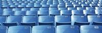 Empty blue seats in a stadium, Soldier Field, Chicago, Illinois, USA Fine Art Print