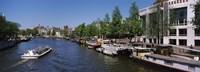 Opera house at the waterfront, Amstel River, Stopera, Amsterdam, Netherlands Fine Art Print