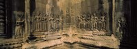 Carvings  in a temple, Angkor Wat, Cambodia Fine Art Print