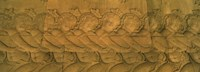 Bas relief in a temple, Angkor Wat, Angkor, Cambodia Fine Art Print