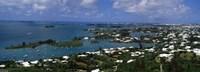 Buildings along a coastline, Bermuda Fine Art Print