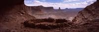 Stone circle on an arid landscape, False Kiva, Canyonlands National Park, San Juan County, Utah, USA Fine Art Print