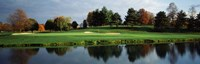 Pond in a golf course, Westwood Golf Course, Vienna, Fairfax County, Virginia, USA Fine Art Print