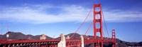 Red suspension bridge, Golden Gate Bridge, San Francisco Bay, San Francisco, California, USA Fine Art Print