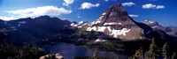 Mountain range at the lakeside, Bearhat Mountain, Hidden Lake, Us Glacier National Park, Montana, USA Fine Art Print