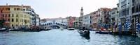 Buildings at the waterfront, Rialto Bridge, Grand Canal, Venice, Veneto, Italy Fine Art Print