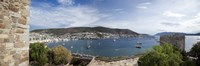 View of a harbor from a castle, St Peter's Castle, Bodrum, Mugla Province, Aegean Region, Turkey Fine Art Print