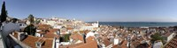 High angle view of a city, Sao Vicente da Fora, Largo das Portas do Sol, Alfama, Lisbon, Portugal Fine Art Print